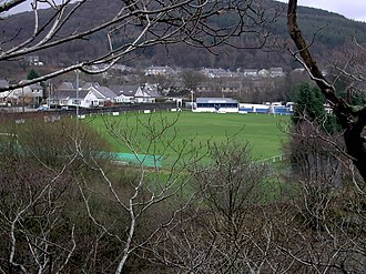 Bethesda Athletic F.C. - Parc Meurig, home of Bethesda Athletic.