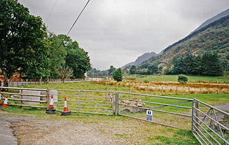 Betws Garmon - Site of Welsh Highland Railway station to be built at Betws Garmon, 1999