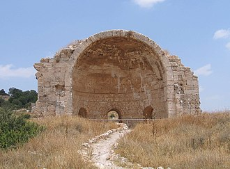 Beit Guvrin National Park - The ruins of the Church of St Anne, called Sandahanna in Arabic.