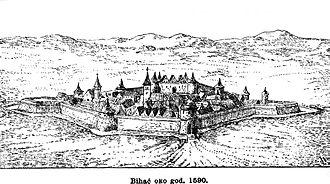 Siege of Bihać (1592) - Bihać around 1590