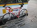 Bikerack for three bicycles on Highway 17 Express Bus.jpg