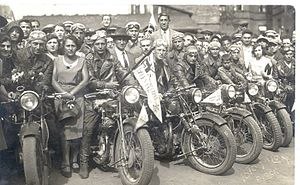 History of the Maccabiah - Bikers during the opening parade of the 1st Maccabiah; 1932. Such motorcyclists were instrumental in spreading the word about the upcoming Jewish Olympics across Europe.