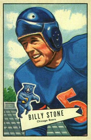 Billy Stone (American football) - Stone on a 1952 Bowman football card