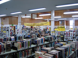 Birkenhead Public Library - Interior of the former library, circa 2005, showing about a third of the collection.