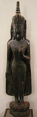Birmania, (pagan) buddha coronato, XIII sec.