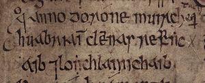 Bjaðmunjo Mýrjartaksdóttir - Image: Bjaðmunjo Mýrjartaksdóttir (Bodleian Library MS Rawlinson B 503, folio 32r)
