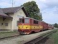 Blažejov, nádraží, vlak s lokomotivou T 47.021.jpg