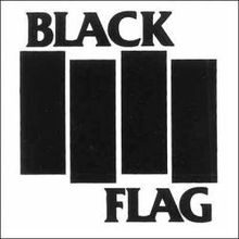 Black Flag logo consisting of four vertical black bars