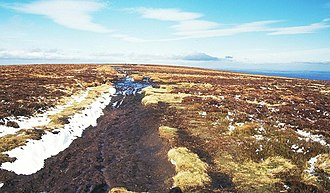 Offa's Dyke Path - The summit of the Black Mountain crossed by the Offa's Dyke Path