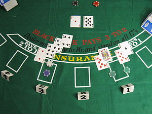 Blackjack - Dealer's hand revealed