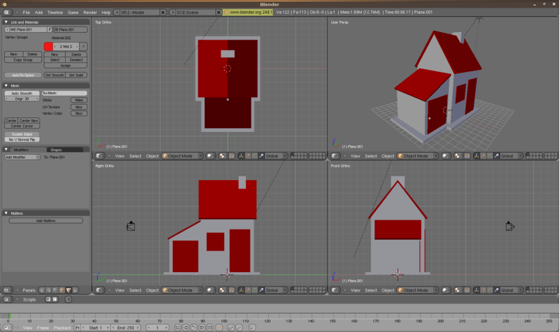 Une interface 3Ds Max sous Blender