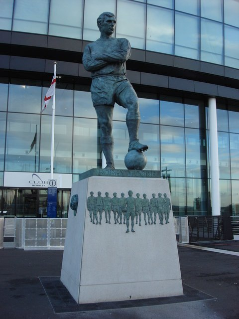 Bobby Moore Statue outside Wembley Stadium - geograph.org.uk - 602874