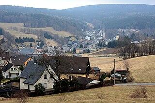 Bockau Place in Saxony, Germany