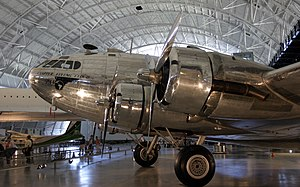 Boeing 307 Stratoliner - A restored (ex-PanAm) Boeing 307 on display at the Steven F. Udvar-Hazy Center