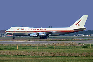 Berlin Tegel Airport - World Airways Boeing 747-200 at Berlin Tegel Airport in 1973