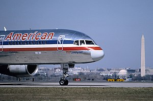 American Airlines Flight 77 - N644AA in March 1995 at Ronald Reagan Washington National Airport.