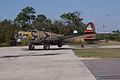 Boeing B-17G-85-DL Flying Fortress Nine-O-Nine Landing Taxi 44 CFatKAM 09Feb2011 (14797236699).jpg
