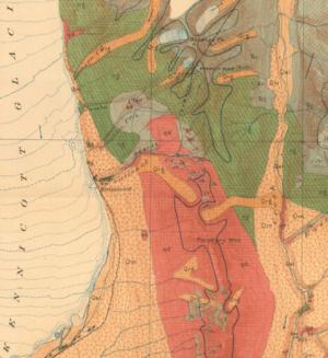 Kennicott Glacier - Geologic map depicting the glacier