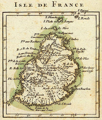Mauritius - Map of Isle de France