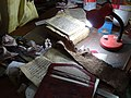 Book Restoration Table - Gey Gar (Traditional House) - Now City Museum - Harar - Ethiopia (8754141304).jpg