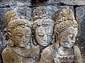 Borobudur - Divyavadana - 077 N, Rudrayana after his Ordination (detail 1) (11706303993).jpg