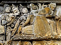 Borobudur - Lalitavistara - 001 E, Bodhisattva in Tusita Heaven amongst the Gods (detail 2) (11248189686).jpg