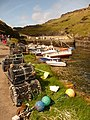 Boscastle, harbourside lobster-pots - geograph.org.uk - 1466496.jpg