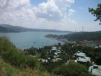 View of the Bebek neighbourhood from the hills of the Bosporus