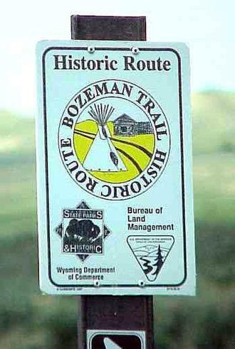 Bozeman Trail - Bozeman Trail marker, Montana, 2003