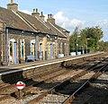 Brandon railway station - disk-type ground signal - geograph.org.uk - 1516127.jpg