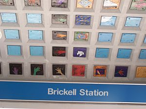 Brickell station - Image: Brickell Station Miami with decorated roof