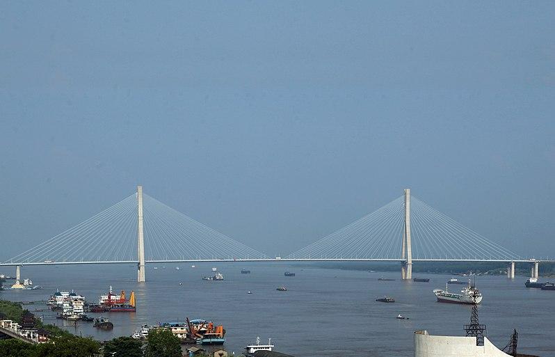 File:Bridge on the Yangtze River in Anqing Anhui China-2.jpg