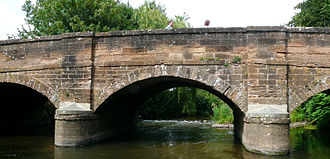 River Otter, Devon - Bridge over River Otter, at Otterton.