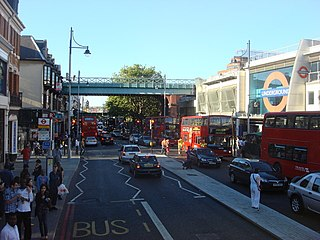 Brixton Road street in Lambeth, London, England