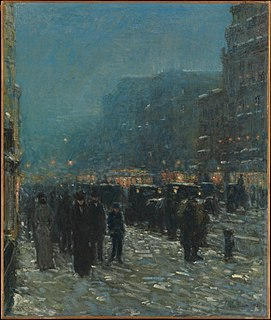 <i>Broadway and 42nd Street</i> (Metropolitan Museum of Art) Painting by Childe Hassam