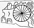 Bronze Age representation of solar symbols on dolmen. Wellcome M0015077.jpg