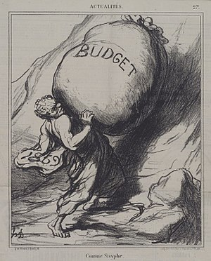 Budget - Comme Sisyphe - Honoré Daumier (Brooklyn Museum)