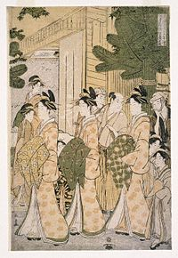 Brooklyn Museum - New Years Parade of the Beauties of the Green Houses - Eishusai Choki.jpg