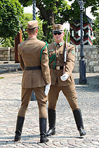 Budapest Sándor Palace Changing the Guard 1.jpg