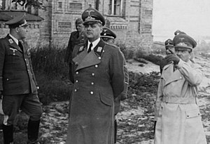 Reichskommissariat Ukraine - Erich Koch (right) and Alfred Rosenberg (center) in Kiev