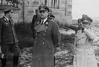 Reichskommissariat Ukraine - Erich Koch (right) and Alfred Rosenberg (center) in Kiev