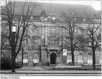 Academy of Arts, Berlin - Akademie der Künste (East), circa 1955, in the Kaiserin-Friedrich-Haus, Robert-Koch-Platz