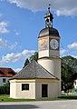 Burghausen - Burg, Uhrturm und Brunnenhaus.JPG