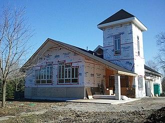 Ashburn, Ontario - Burns Presbyterian Church, 765 Myrtle Rd. W., Ashburn, Ontario. Addition and renovations, Spring 2012