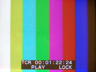 Analog television - Color bar generator test signal