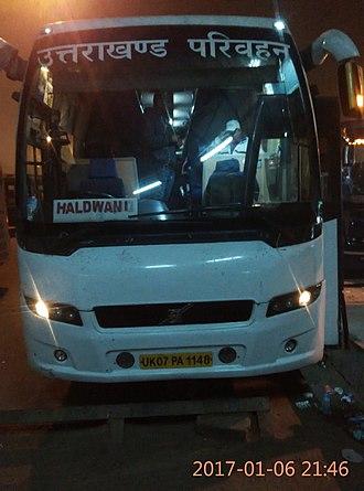 Uttarakhand Transport Corporation - Uttarakhand Transport Corporation's Volvo 9400 in Delhi