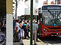 Bus stop at Ciudad Quesada, Costa Rica municipal market.jpg