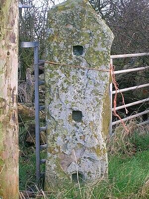 Gatepost - A stile at Busbiehill, North Ayrshire. 2007.