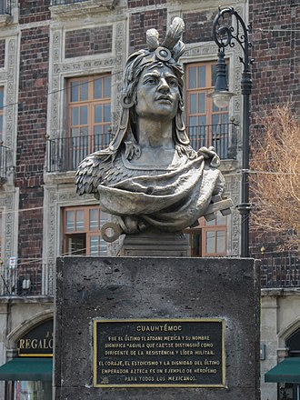 Bust of Cuauhtémoc - The bust in 2015