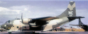 315th Airlift Wing - A C-123K of the 19th ACS, 315th ACW, Phan Rang, Vietnam, 1968.
